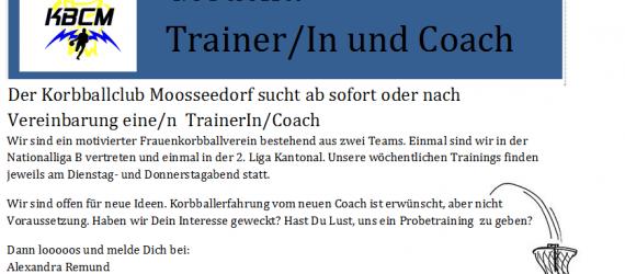Auf der Suche nach einem / einer Trainer/in